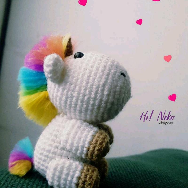 unicornio amigurumi juguete tejido a mano