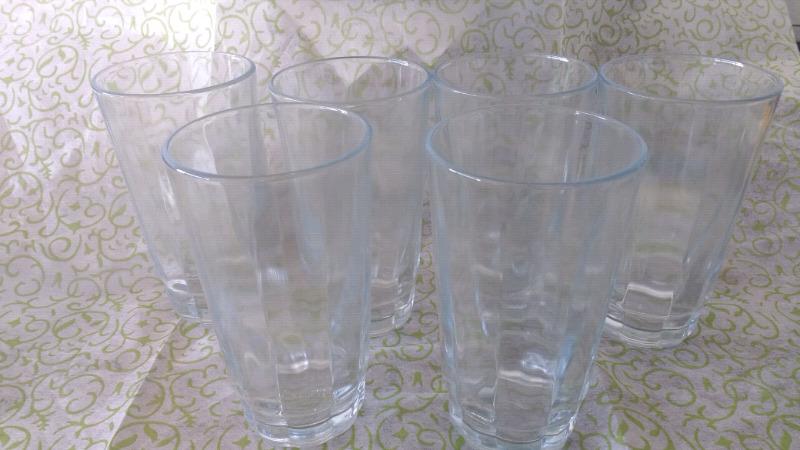 Juego de 6 vasos de cristal