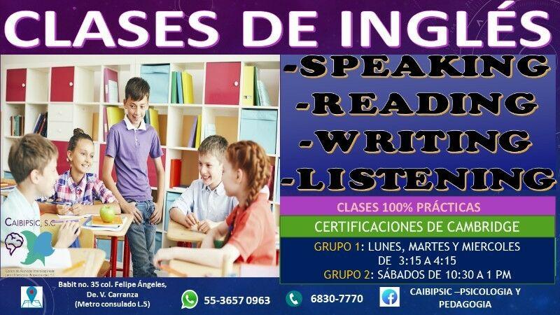 CLASES DE INGLES PARA NIÑOS Y ADOLESCENTES