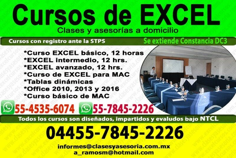 Curso de EXCEL desde  pesos