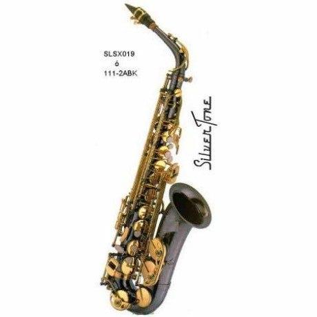 Saxofon Alto Neg. Silvertone Slsx020 Nuevo Envio Gratisy Msi