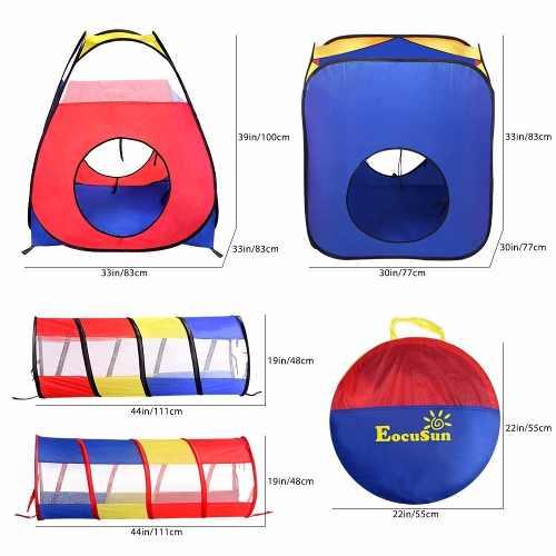 Casita Infantil Con Tunel. Play Tent. 4 Pzs + Funda