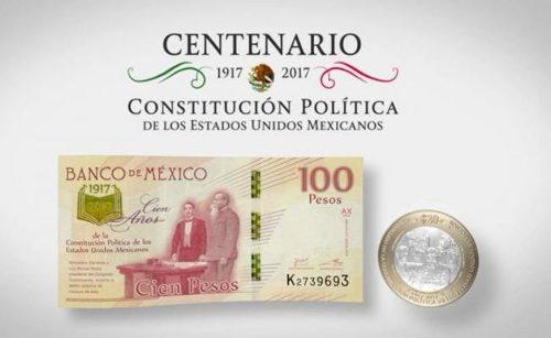 Centenario De La Constitución Moneda Y Billete Nuevos