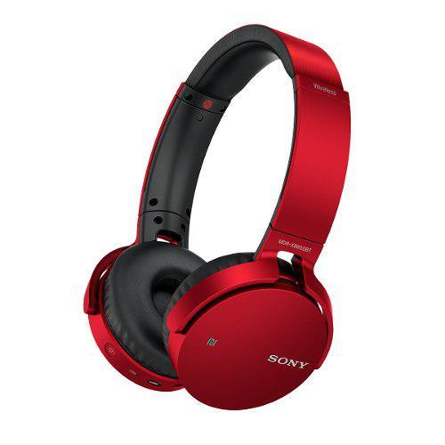 Audífonos Sony Mdrxb650bt Bluetooth, Extra Bass Rojo