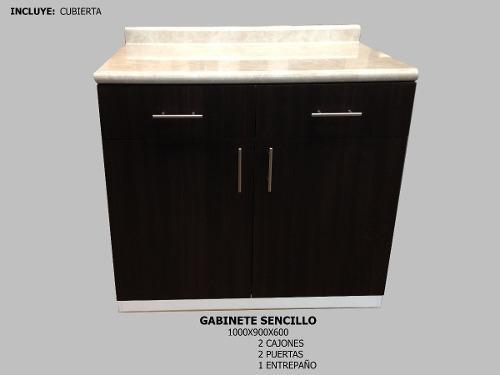 Gabinete Cubierta Sencillo 2 Puertas Para Cocina Integral