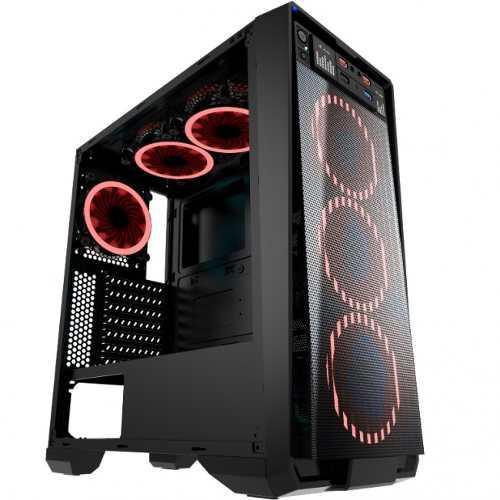 Gabinete Eagle Warrior Skynet Cgskynet01h8regw Rojo