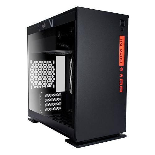 Gabinete In Win 301 Led Mini Itx Cristal Templado Negro