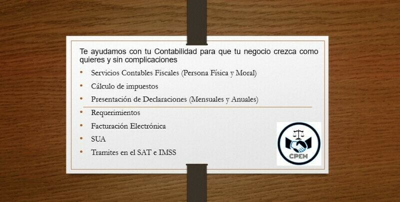 Servicios Profesionales Contables C.P. Eladio Molina