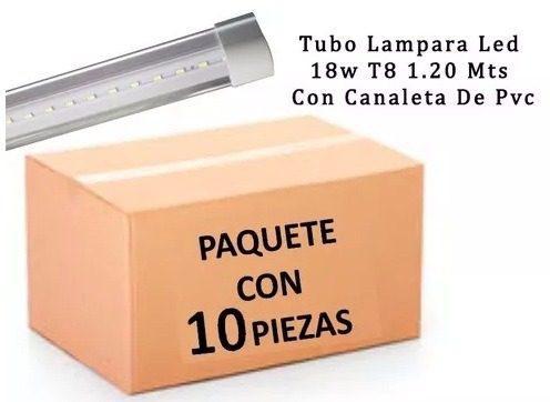 Tubo Led 18w T8 1.20 Mt 10 Pzas Envío Gratis Gabinete