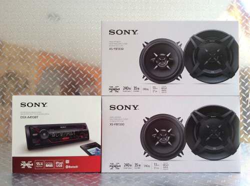 Auto Estereo Sony Dsx-a410bt Bluetooth Usb + 4 Bocinas 5 1/4
