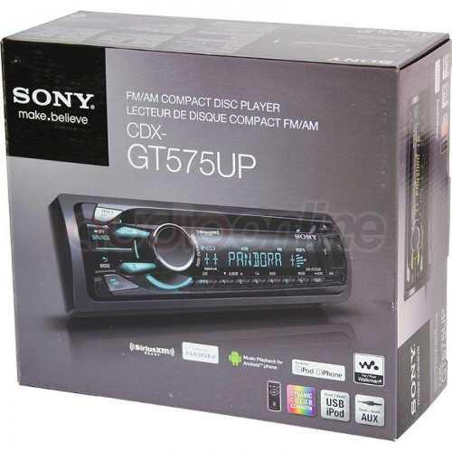 Autoestereo Sony Cdx-gt575up Cd Mp3 Usb Aux 4 Rca Multicolor