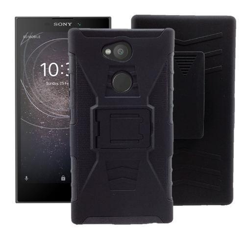 Funda De Uso Rudo + Mica Cristal Templado Sony Xperia L2