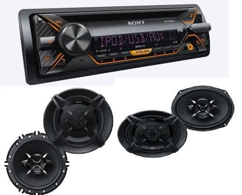 Paquete Autoestereo Sony Cdx-g3200uv Y Bocinas 6x9 Y 6.5