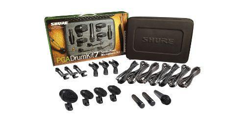 Paquete De Micrófonos P/batería Shure 7pzas Pgadrumkit7