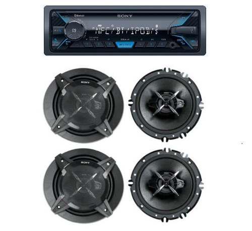 Paquete Estereo Sony Dsx-410bt Con 4 Bocinas 6.5 Xs-fb1630