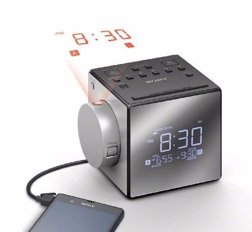 Radio Reloj Sony Icf-c1pj 100 Mw Am / Fm Usb Conecta Tu Cel