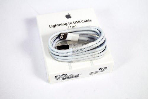 Cable Cargador Lightning 1mts Iphone 5, 6, 7, 8 X Original