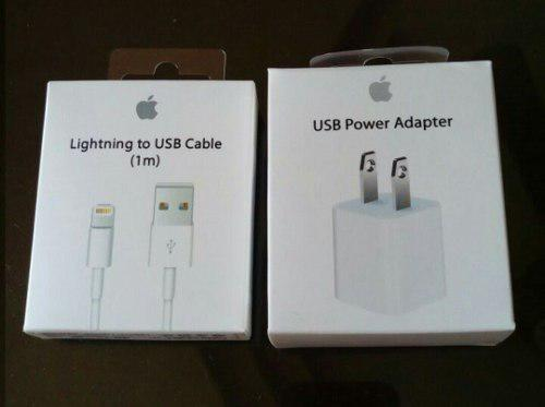 Cable + Cubo Cargador Apple Original Iphone 5 6 7 8 X Ipod