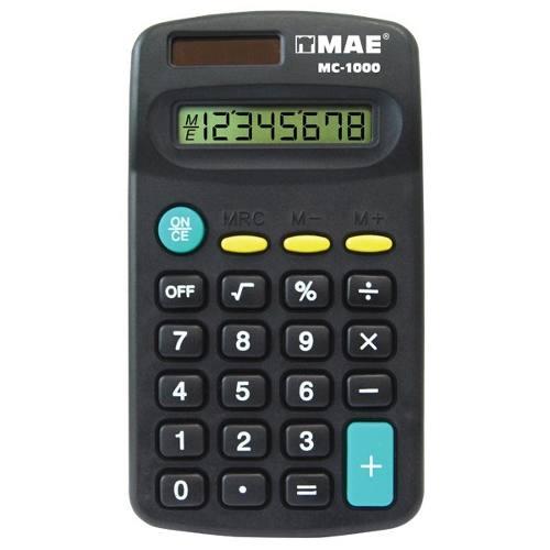Caja C/24 Calculadora De Bolsillo Mae Mc- Digitos