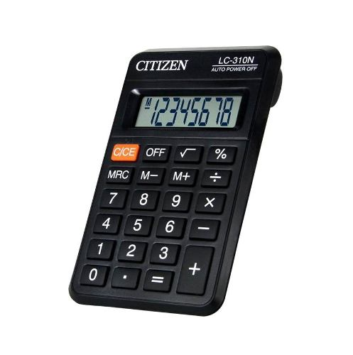 Calculadora Citizen De Bolsillo Lc301n X 12 Pz. Msi
