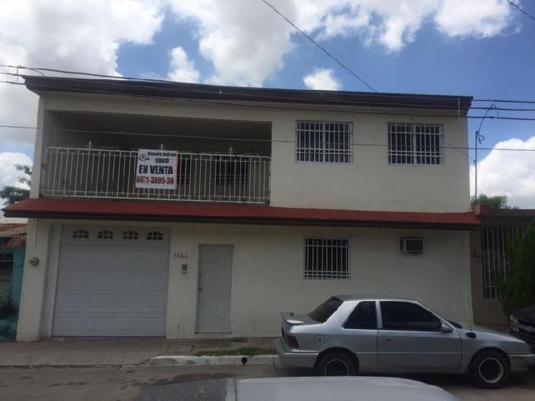 Casa en venta con 5 recamaras Colonia Hidalgo, Culiacan