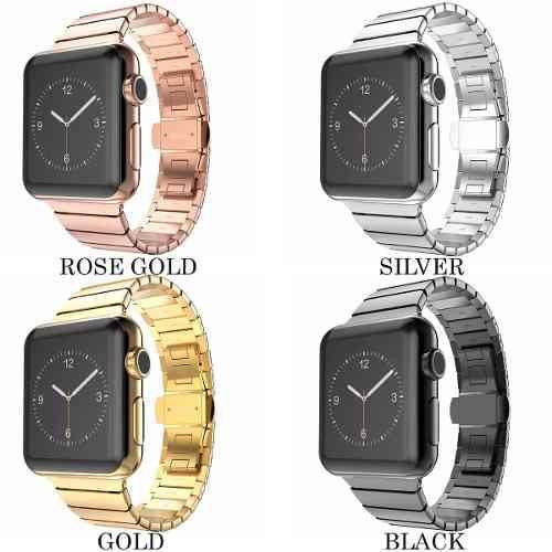 Correa De Eslabones De Lujo Para Apple Watch + Case O Mica
