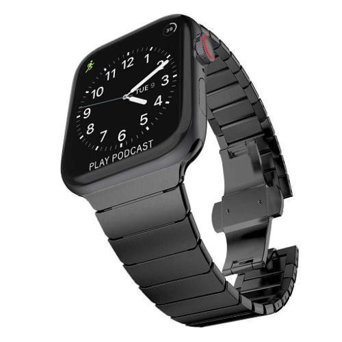Correa De Eslabones Para Apple Watch 42-44mm Acero Metal