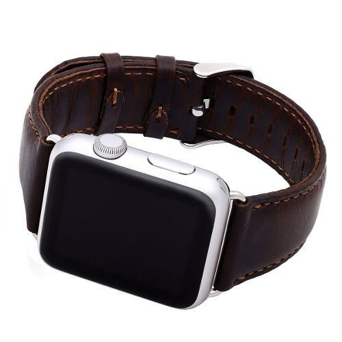 Correa De Piel Cofee Retro Para Apple Watch Serie 4 - 44mm