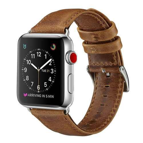 Correa De Piel Cuero Retro Para Apple Watch Series 1,2,3,4