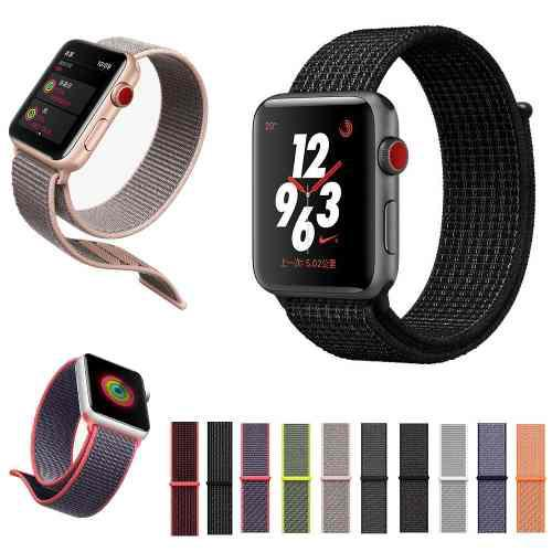 Extensible Correa Para Apple Watch Serie1 2 3 4 Nylon Ligero