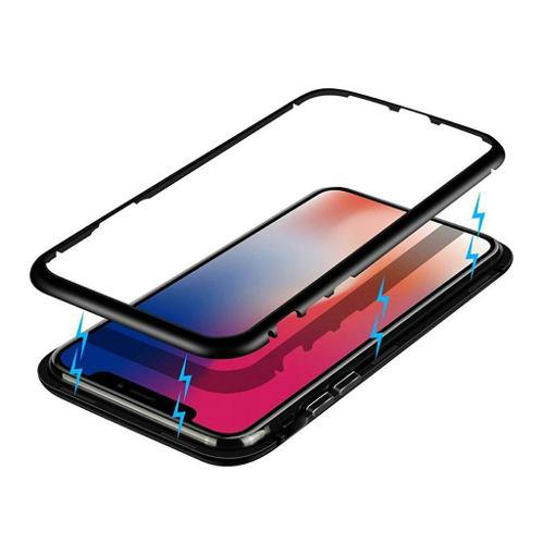 Funda Bumper Magnetica Iphone X Xs Max Xr Cristal Trasero