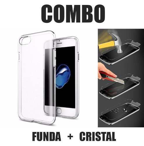 Funda Iphone 6 6s 7 8 Plus 5 5s Se X Protector + Cristal 9h