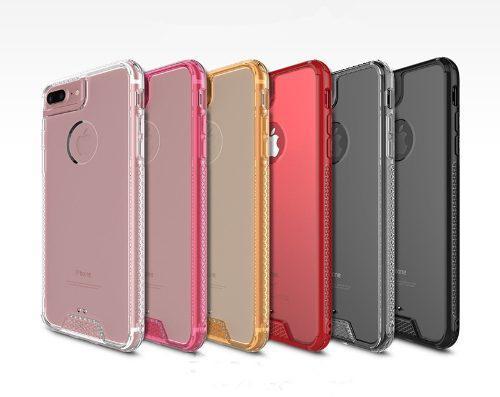 Funda Protector Contra Golpes Iphone 6 7 X Y Plus +mica Te