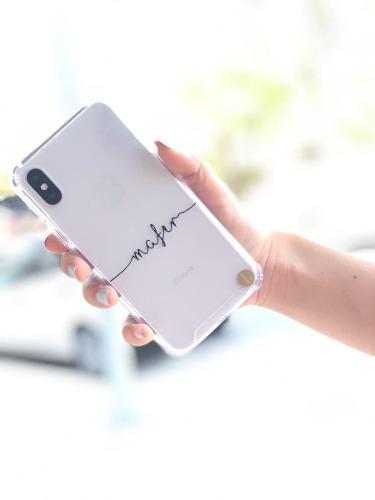 Funda Transparente Con Nombre Personalizado Iphone 6,7,8,x