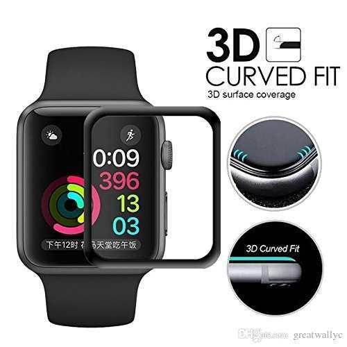 Protector Case Mica Cristal Templado Apple Watch 38 42 Curvo
