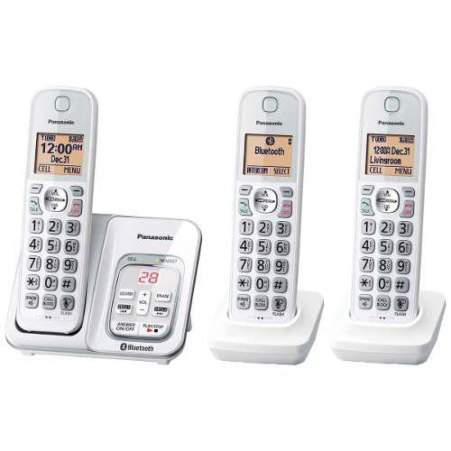 Set D Teléfonos Inalámbricos Panasonic Bluetooth Kx-tg