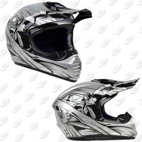 Casco Tipo Cross Mummy Gris Dot Tallas S, M, L Y Xl