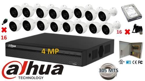 Kit Dahua Cctv 16ch Xvran4klx 4mp 16 Cam Metal Dd 2tb