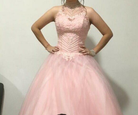 Vestido Xv Rosa Salmon Posot Class