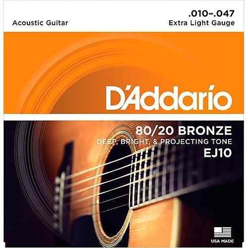 2 Juegos Cuerdas D'addario Guitarra Acustica Ej/