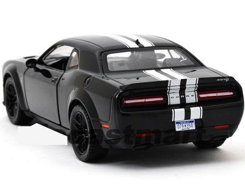 2018 Dodge Challenger Srt Hellcat Negro Motor Max 1:24