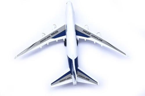 Avión De Plástico Con Luz Y Sonido 1 Pz Publicidad 42cm