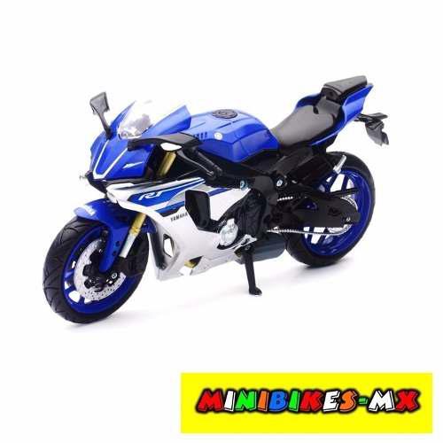 Azul Moto De Colección Yamaha Yzf R1 Escala 1:12 Newray