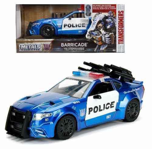 Barricade Transformers 1:24 Jada Metals Diecast Oferta Nvo