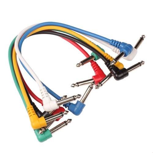Cables De Parcheo De Guitarra 6 Piezas - Meses Envio Gratis