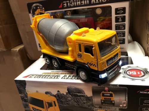 Camión Revolvedora De Metal Luz Y Sonido 17x5.5x8.5cm