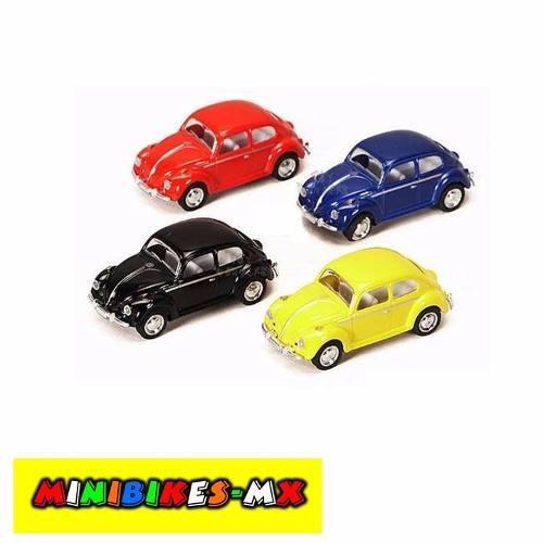 Colección De 4 Vochos A Escala 1:64 Volkswagen Beetle 1967
