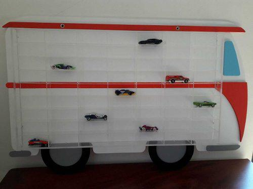 Coleccionador Hot Wheels - Para 63 Carritos - Acrilico Y Mdf