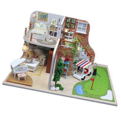 Diy Grande De Artesanía En Miniatura Casa De Muñecas, Mueb