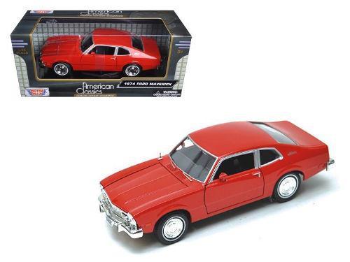 Ford Maverick 1974 Rojo Escala 1:24 Motor Max